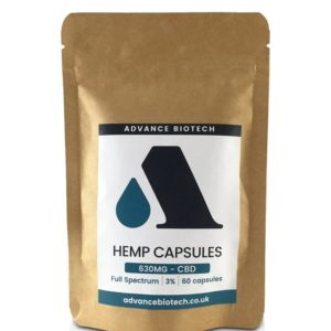 Advance Biotech Hemp Capsules 630mg Front