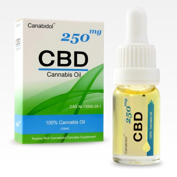 CBD Oil Drops 250mg FRONT
