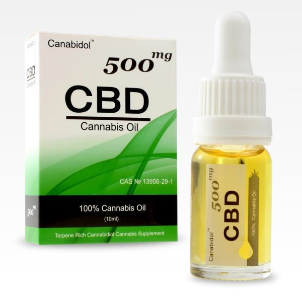 CBD Oil Drops 500mg FRONT