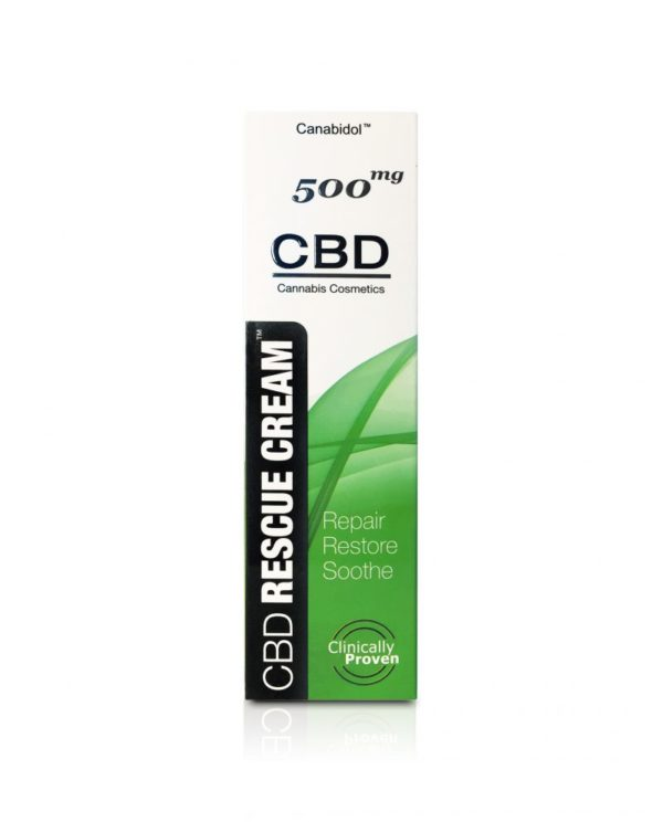 Canabidol CBD Rescue Cream 500mg FRONT