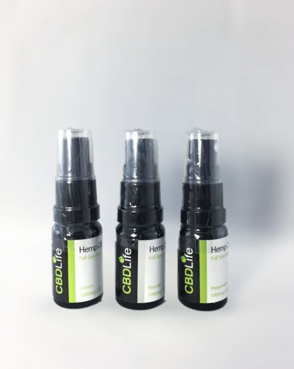 Cbd Life 1000mg oil range
