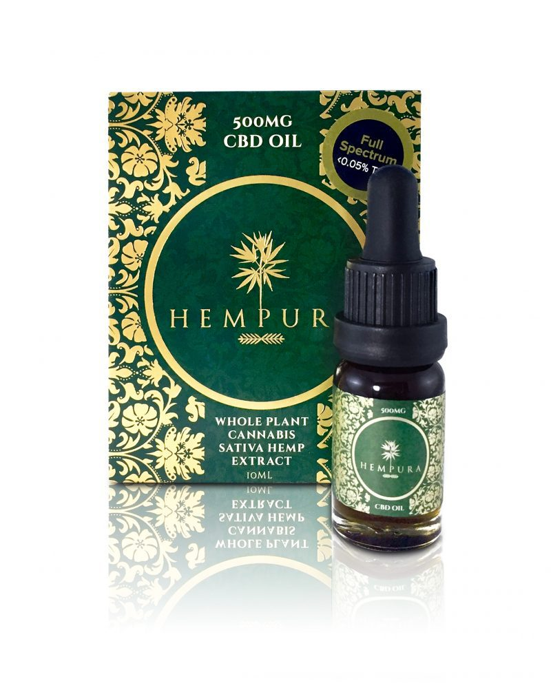 Hempura 500mg Oil open w bottle