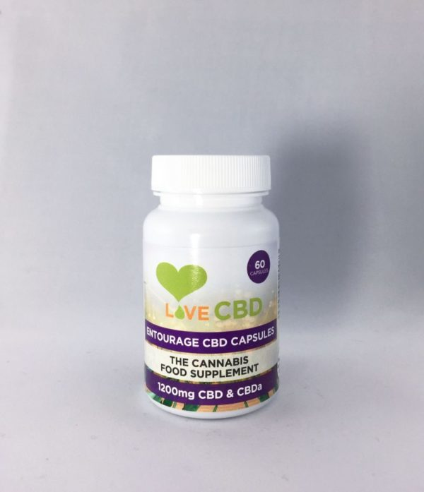 Love CBD Entourage Oil capsules 1200mg