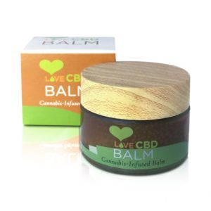 Love CBD balm open