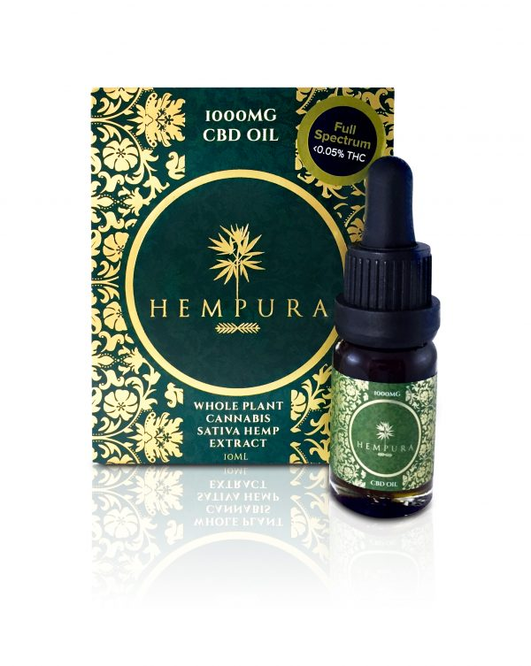 #4 Best CBD Oil in UK - Hempura Full-Spectrum CBD Oil