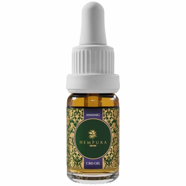 Hempura 1000mg Broad-Spectrum Refined CBD Oil Bottle