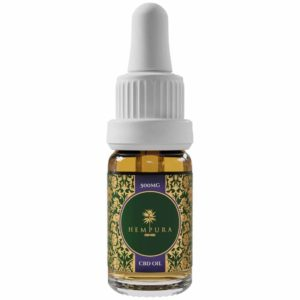 Hempura 500mg Broad-Spectrum Refined CBD Oil Bottle