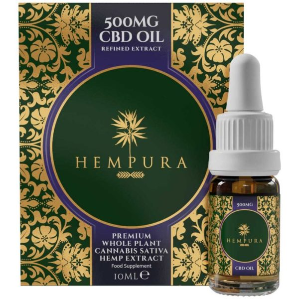 Hempura 500mg Broad-Spectrum Refined CBD Oil Box