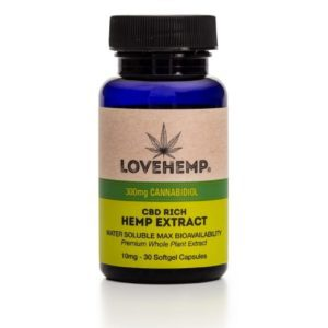 Love Hemp CBD Softgel Capsules 300mg