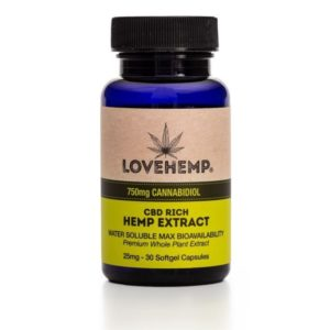 Love Hemp CBD Softgel Capsules 750mg
