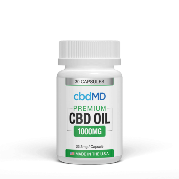 cbdMD CBD Oil Capsules 1000mg (1)