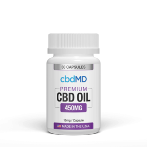 cbdMD CBD Oil Capsules 450mg (1)