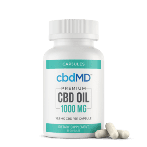cbdMD CBD Oil Capsules (1000mg) (60 Caps)