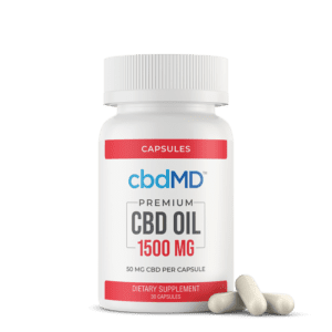cbdMD CBD Oil Capsules (1500mg)